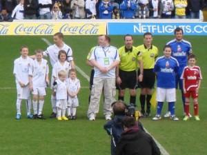 Essex Whites Matchball Sponsorship v Swindon Town and Mascots